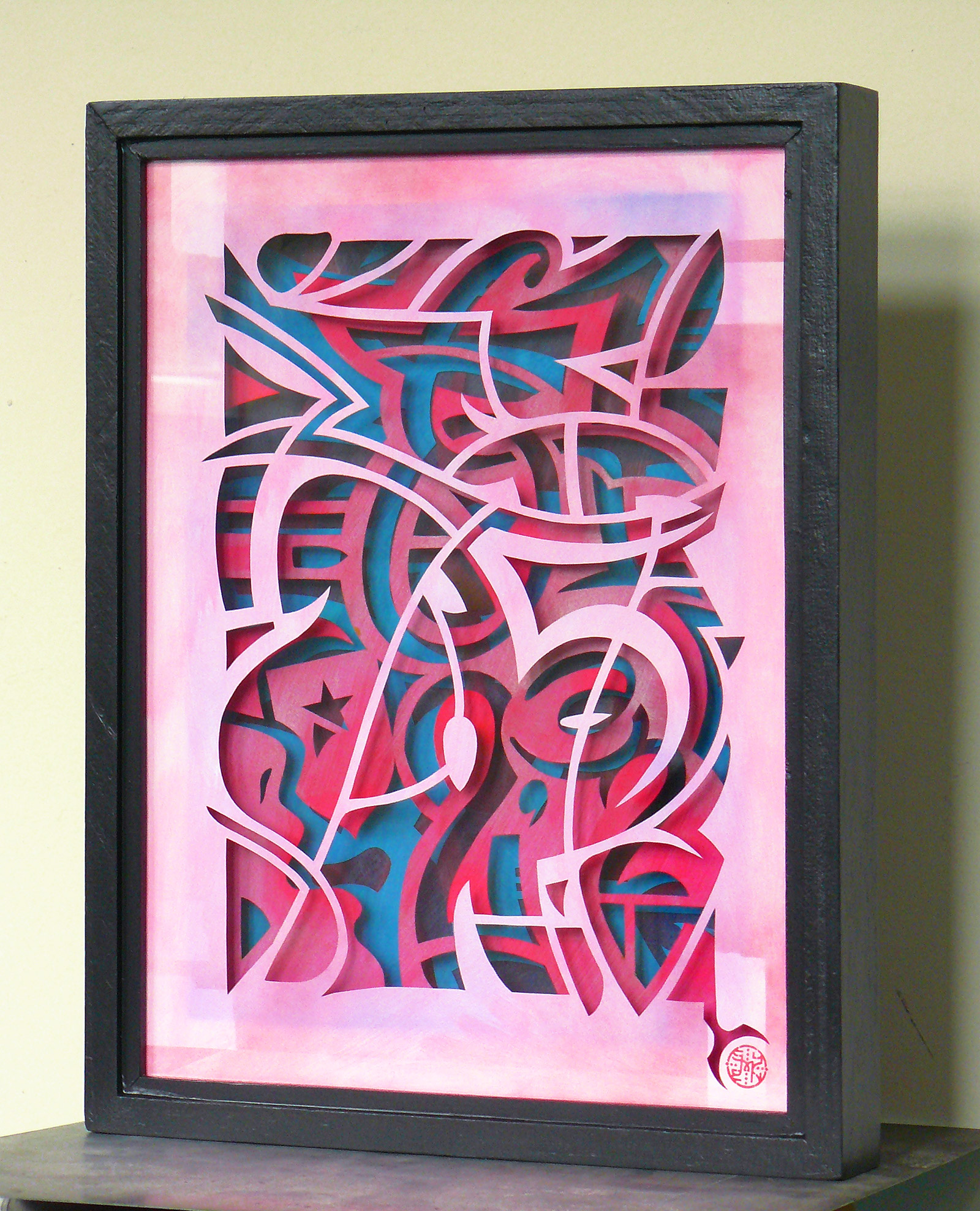 valutagrafie, euro art, Symen Veenstra, money art, paper art, pink, spray can